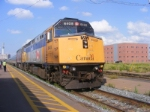 Via 615 arriving at Moncton July 28 2008